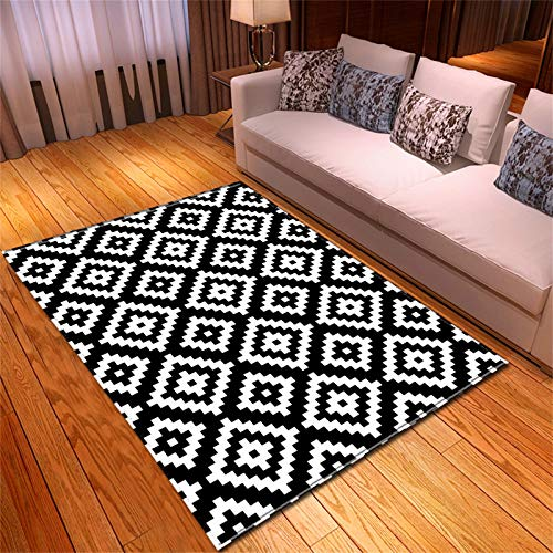 HAI Alfombra Grande, Sala De Estar De Alfombra Antideslizante con Patrón Tridimensional 3D(Color:KTBN-1,Size:100cmx150cm)