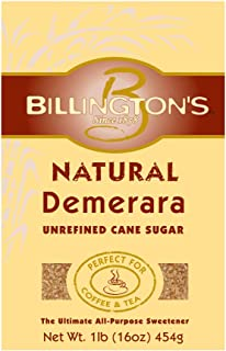 Billington's Natural Demerara Unrefined Cane Sugar, 1 LB (Pack of 10)