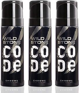 Wild Stone Code Chrome Perfume Body Spray Pack of 3 (120 ml each)