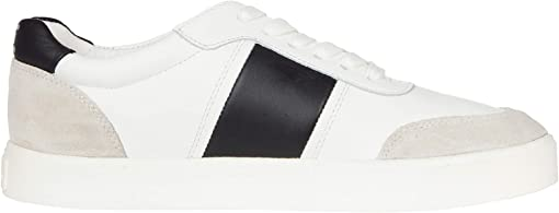 White/Black Leather