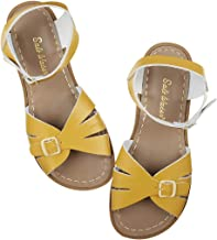 yellow saltwater sandals