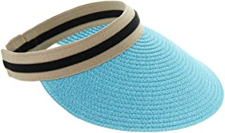 Top Headwear Paper Braid Visor Sun Hat
