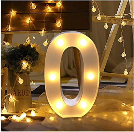 LED Letter Alphabet Numbers Lights Light Up White Letters Standing Hanging A-Z