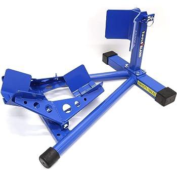 toolsisland バイクスタンド フロントタイヤ固定用 フロントホイールクランプ フロント 青色