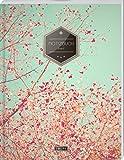 """TULPE Liniertes Notizbuch A4 """"C032 Frühlingstraum"""" (140+ Seiten, Vintage Softcover, Doppelrand, Seitenzahlen, Register - Dickes Notizheft, Deutschheft, Schreibheft, Schulheft, Tagebuch, Lineatur 27)"""