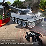 Mopoq 2.4Ghz Remote Control Tank 1:16 2.4G Toy Launch Military Metal RC German