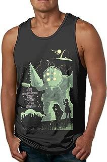 Starcl Bioshock Men's Underwaist Tank Top Shirt Black