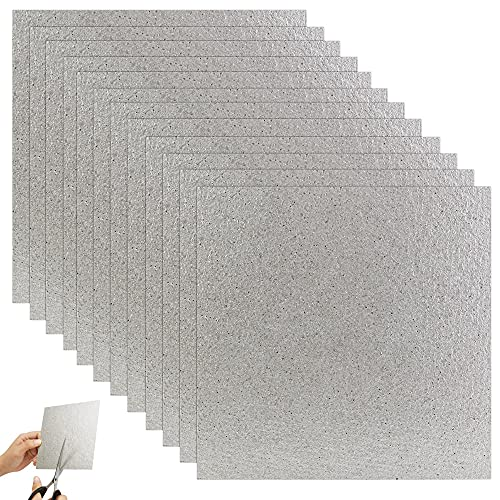 FIGFYOU 12 Stück Glimmerplatte Blatt...