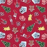 Textiles français Baumwollstoff Weihnachtsstoff | Ich