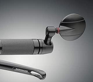 Rizoma Spy R Mirror, Black, BS185B, With Mounting adapter for Yamaha (BS185B+LP300B)