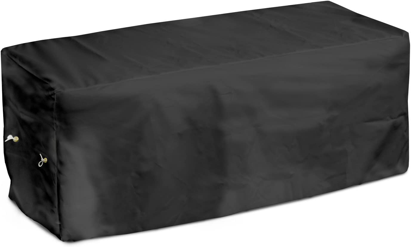 KoverRoos Weathermax 74212 4-Feet Garden Seat Cover, 51-Inch Width by 28-Inch Diameter by 18-Inch Height, Black