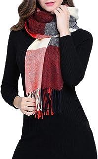 755de237a14 QS_Go Bufandas para Mujer Bufanda de la Señora Otoño e Invierno Chal Ligero  Bufanda Suaves de
