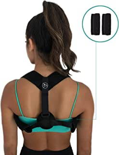 Posture Corrector for Men and Women - Comfortable and Adjustable Back Brace Straightener,  Neck and Back Pain Reliever,  Easy to Wear and Easily Hides Under Clothing - FDA Approved - Healthy Living