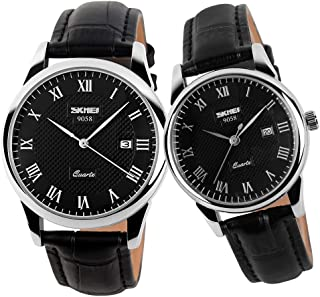 Pair Watches for Couples Men and Women His and Hers Watch Set Husband Wife Valentines Matching Wrist Watch Wedding Gifts W...