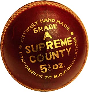AMBER Sporting Goods Super County Cricket Leather Ball (Each)