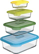 Joseph Joseph Nest Glass Storage, Freezer Oven Microwave Dishwasher Safe, 8-Piece Set, Multi-colored