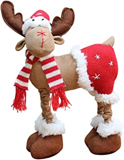 Forart Reindeer Plush Toy Christmas Pet Stuffed Animals Plush Toy Plush Puppets Plush Standing Rustic Moose Figurine Decor...