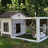Kaninchenstall Meerschweinchenstall Pretty Home White Antiknaag mit Schubladen 106x68x64cm