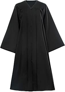 f2c03d8be4 SHANSHAN Unisex Adult Matte Choir Robes Confirmation Robe for Baptisms Gown  Only Black for Clergy Religious