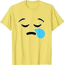 Snot Bubble Sleepy Face Emojis Emoticon Halloween Costume T-Shirt