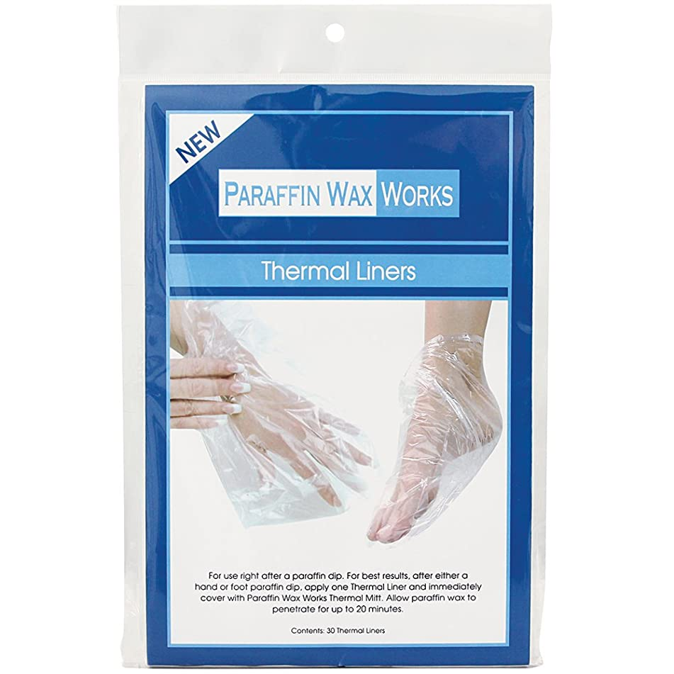 Paraffin Wax Works Thermal Liners, for Use After Paraffin Dip, Keeps Paraffin Wax from Dripping & Locks in Moisture, Fits All Hands &' Sizes, 30Count