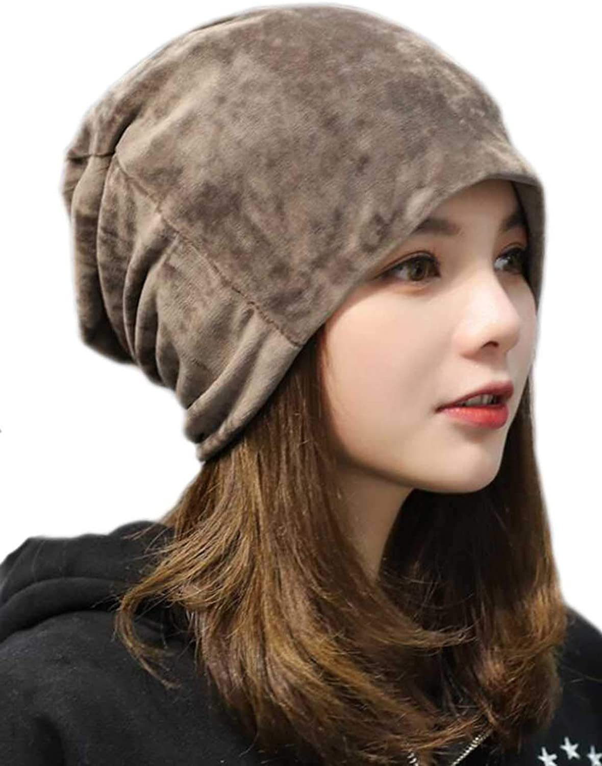 Jovono Hat for Women Winter Warm Hats Slouchy Pile Cap