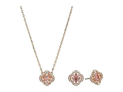 Swarovski Sparkling Dance Clover Set (CZ Fancy Morganite/Pink) Jewelry Sets