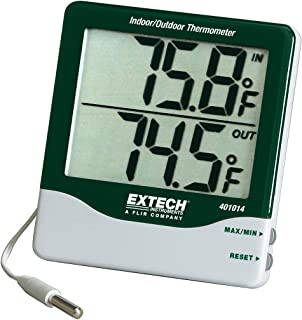 Extech 401014 Big Digit Indoor/Outdoor Thermometer with External Probe and Calibration Certificate