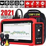 """LAUNCH 2021 Ver OBD2 Scanner CRP129E Eng/ABS/SRS/TCM Code Reader, Oil/EPB/SAS/TPMS/Throttle Body Reset Scan Tool,AUTO VIN,Android 7.0,5.0""""Screen,WiFi Free Update,EL50448 Tool+Carry Bag(Gifts)"""