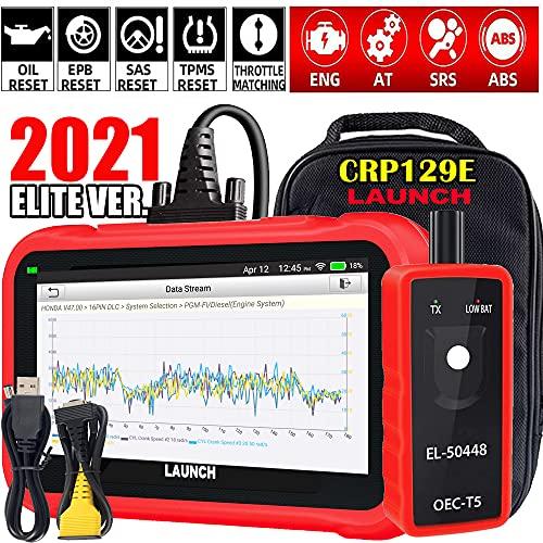 LAUNCH 2021 Ver OBD2 Scanner CRP129E Eng/ABS/SRS/TCM Code Reader, Oil/EPB/SAS/TPMS/Throttle Body...