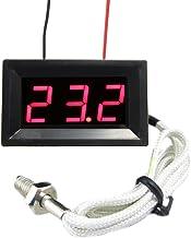 TuToy Red Led Dc 12V Termómetro Digital Termómetro Medidor De Temperatura 0~999 ° C Con Sonda