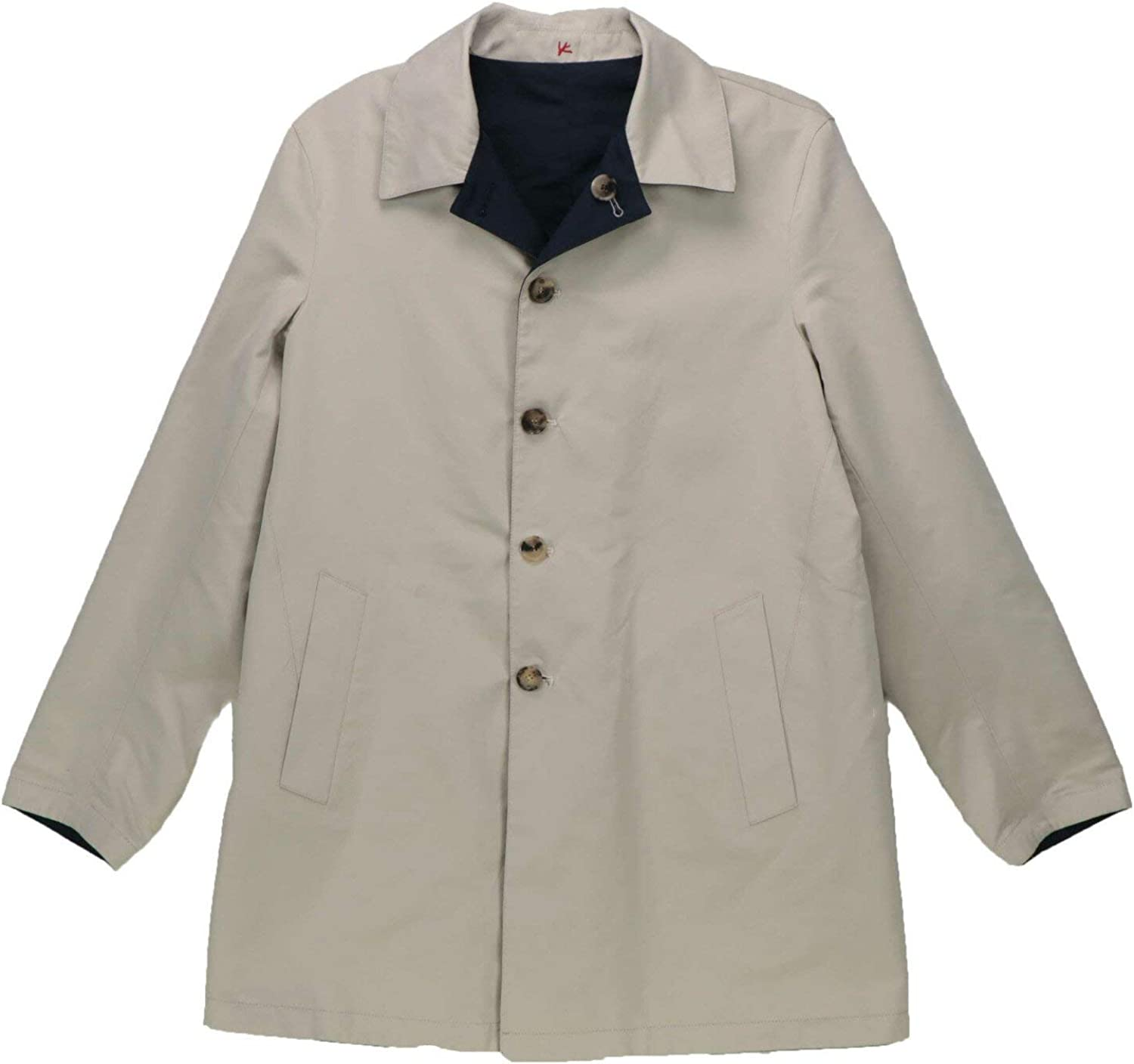 Isaia Men's Discount mail order Reversible Single-Breasted Raincoat Trenchcoat Limited Special Price