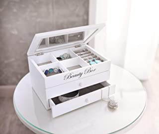 Beauty Box - Joyero, color blanco