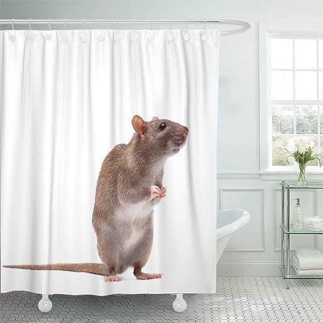 180X200 Modern Luxury White Shower Curtain Waterproof Bathroom Curtains W//Hooks