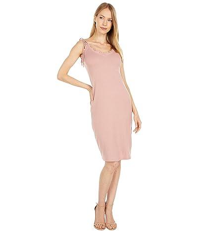 LOST + WANDER Rib Knit Midi Dress