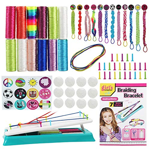 Ansoyi Friendship Bracelet Making Kit for Girls,Best Friendship Bracelet Craft Maker Kit and Jewelry Kit for 7-12 yrs,Princess Arts and Crafts for Kids as Christmas, New Year, Birthday Present