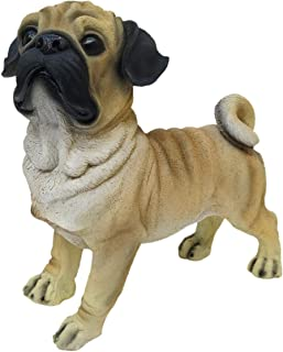Fabzone Multicolour Dog Statue Showpiece Vastu Decorative Puppy Home Interior Decor Item Religious Murti- 34 cm (Silver)