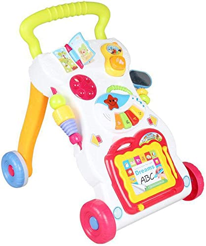 alta calidad general HWQ Baby Walker, Multi-función de Velocidad Velocidad Velocidad Ajustable con música Walker, Toy Carsit & Play, Piano de música, Stand & Walk  Todo en alta calidad y bajo precio.