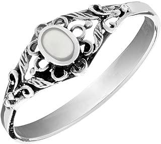 Plata esterlina 925 Anillo para dedo del pie dedo meñique Margarita Flores Chai Apilable Midi