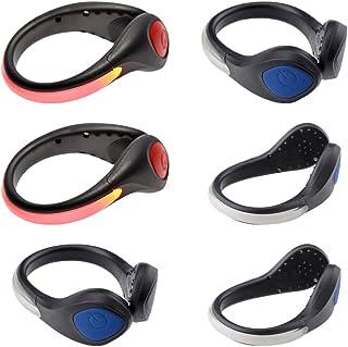 BESPORTBLE 6 Stücke LED Sicherheitslicht Clip Blinklicht LED Schuh Clip Schuhclip Leuchtanhänger für Nacht Läufer Hunde Joggen Laufen Kinderwagen Radfahren Fahrrad Fadlichter Zufällige Farbe