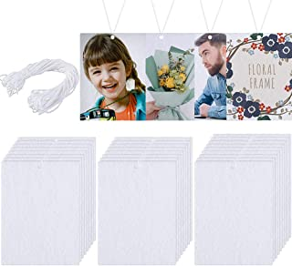 Sponsored Ad - 25 Pieces Car Fragrance Suspension Sheet Hanging Sheets Board White Felt Sheet with Elastic Rope for Car In...