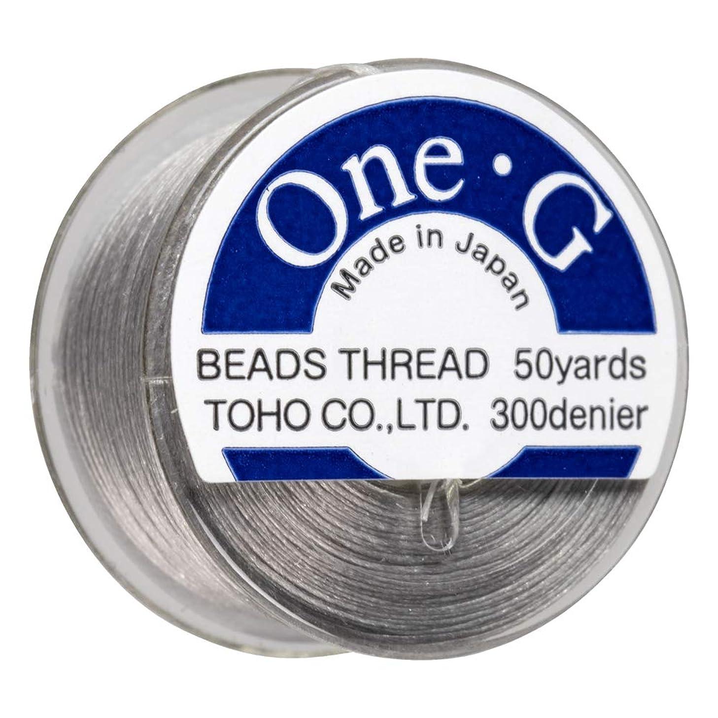 Toho One-G Beading Thread, Lt Gray 50 Yard Bobbin