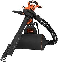 Black+Decker BEBLV301-GB 3000W Backpack Blower Vac + Strap & Rake Accessories Leaf