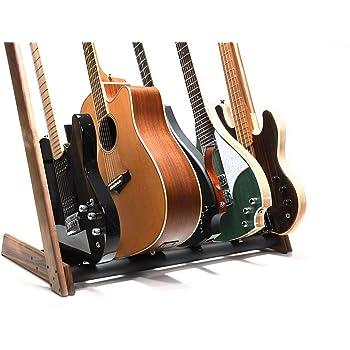 Ruach GR-2 - Soporte para guitarras y estuches de 5 vías personalizables, color nogal: Amazon.es: Instrumentos musicales
