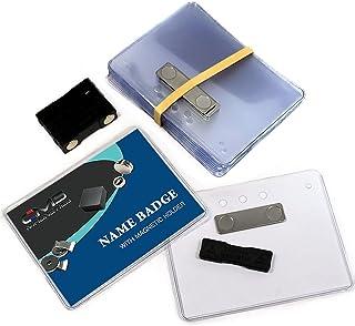 "12 Sets DIY Magnetic Name Badges, 3""X4"" Premium Plastic Badge Holders and CMS Magnetics BM-2MAG-2 Badge Magnets (3"" x 4"", ..."