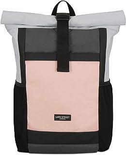 Mochila Enrollable Hombre & Mujer Gris/Rosa No2 Mochilas de Botellas PET Recicladas para Escolares, Universidad, Viaje - Bolsa Casual Impermeable y Bolsillo de Portátil 15.6 Pulgadas