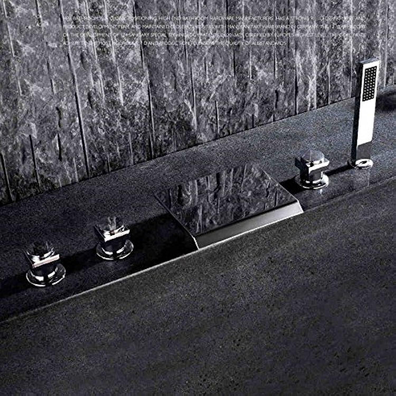 Galvanik Retro Wasserhahn 2016 hetzten Neue Ankunft Luxurise massiv Messing verchromt Deck montiert Wasserfall 5 STüCK Roman Tub Faucet Cascade Badewanne Füller Mischbatterie, Klar