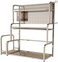 XXT regał kuchenny ze stali nierdzewnej Multi-Layer, regał magazynowy, trzy poziomy (rozmiar: L)