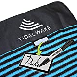 Tidal Wake TAG-IT Snub Nose Blue & Black Striped Surf & Wake Board Sock Bag with Built-in Name Tag 58', Tag Your Bag - Personalize with...
