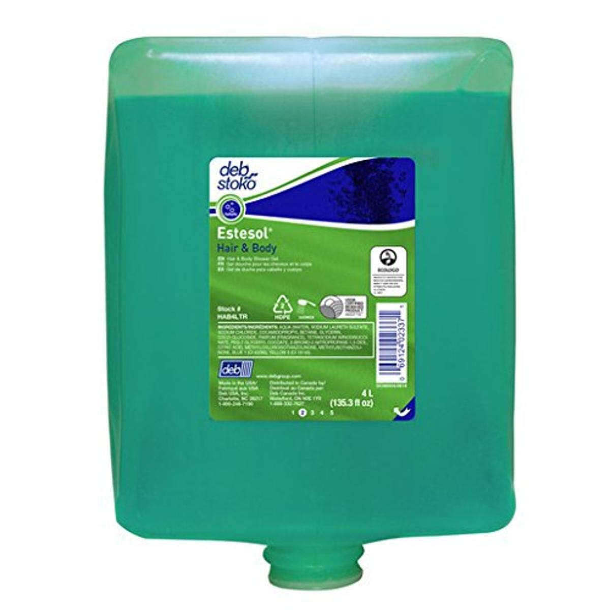 Deb 4 Max 54% OFF Liter Refill Aqua Scented Cleaner Nashville-Davidson Mall Estesol Skin
